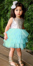 NEW Arrivals Kids Girls Baby Sleeveless Tutu Princess Sequins Dress Pageant Summer Kids Dress