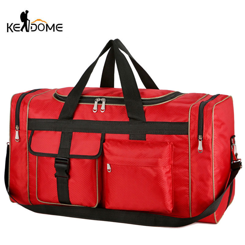 Nylon Luggage Gym Bags Outdoor Bag Large Traveling Tas For Women Men Travel Duffle Sac De Sport Handbags Gymtas Shoulder XA20WD