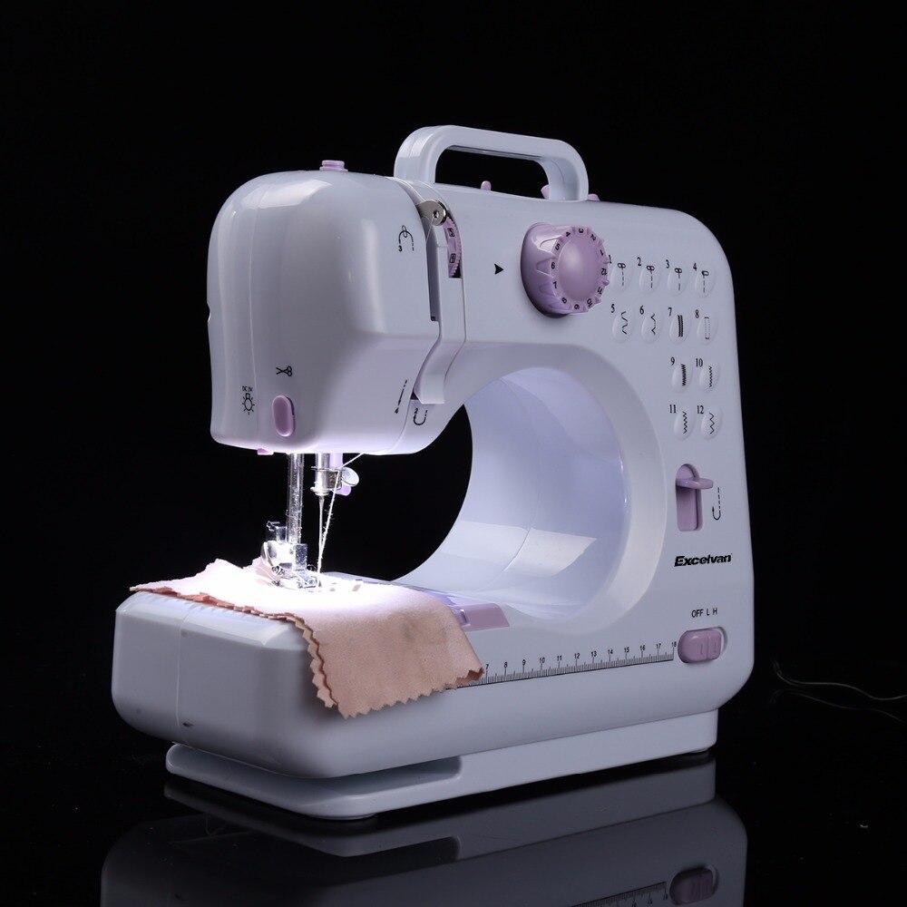الكهربائية البسيطة ماكينة خياطة s 12 غرز سرعتين غرزة قابل للتعديل المنزلية ماكينة خياطة الحياكة آلة مصباح ليد EUplug-في ماكينات خياطة من المنزل والحديقة على  مجموعة 3