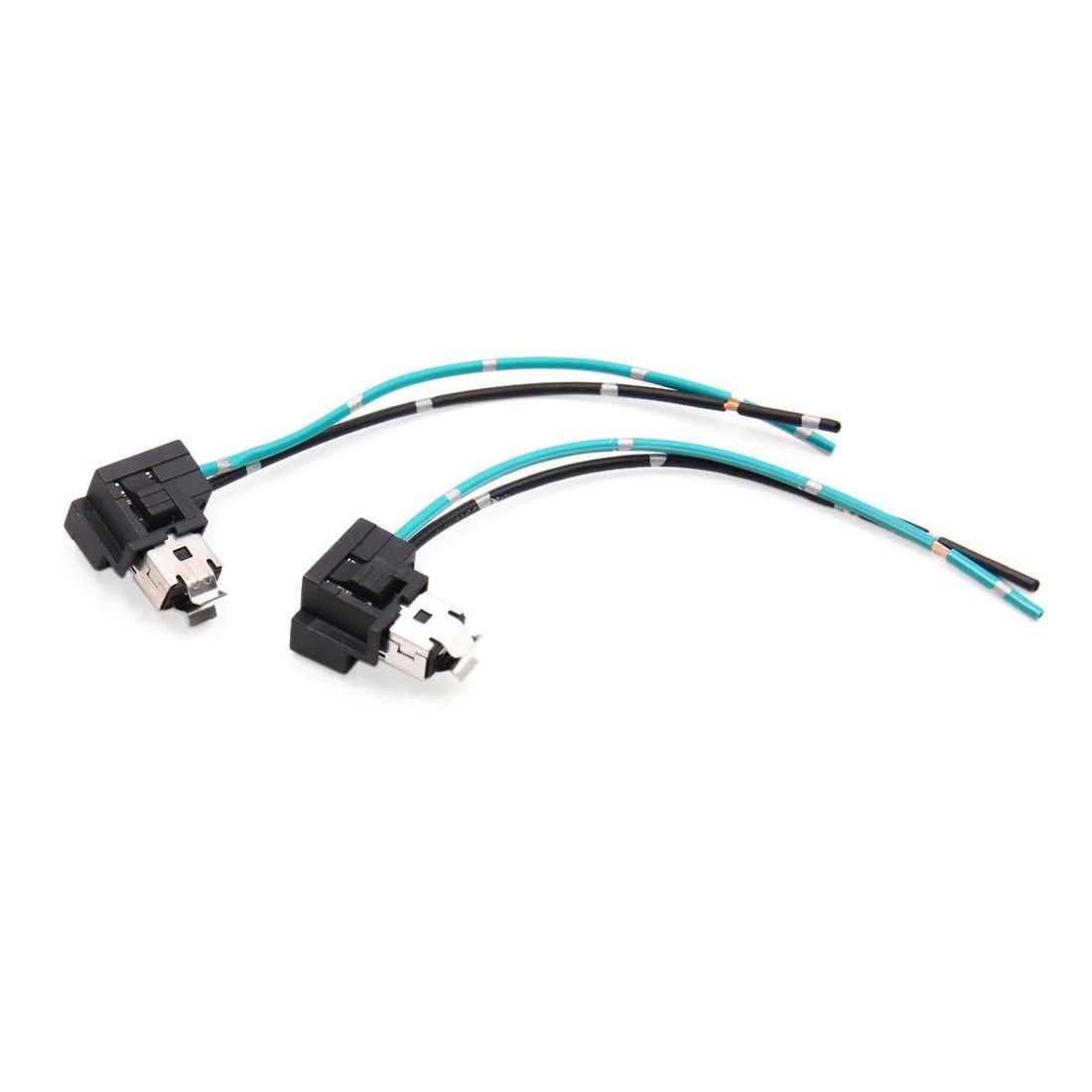 uxcell 2pcs h1 headlight fog lamp extension wiring harness
