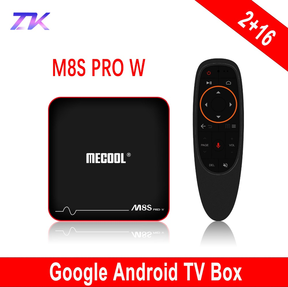 цена на Mecool M8S Pro W Android 7.1 TV Box S905W 2GB RAM 16GB Voice Control Smart TV Box Android 2.4G WIFI OTA Yotube 4K Google TV Box