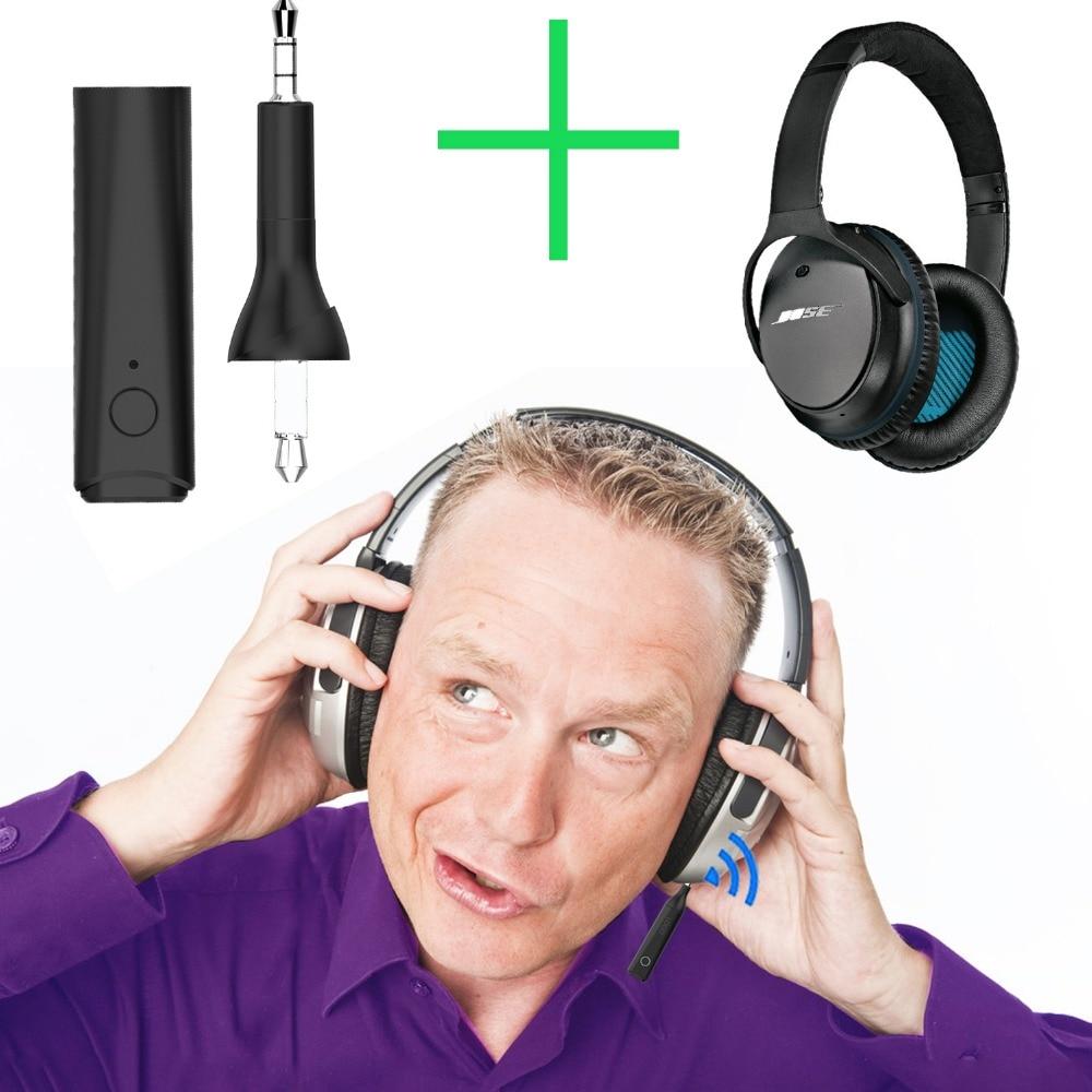 Bluetooth 5.0 de áudio estéreo adaptador Receptor Sem Fio para Bose QuietComfort 25 35 QC25 QC35 Acoustic Noise Cancelling Fone De Ouvido