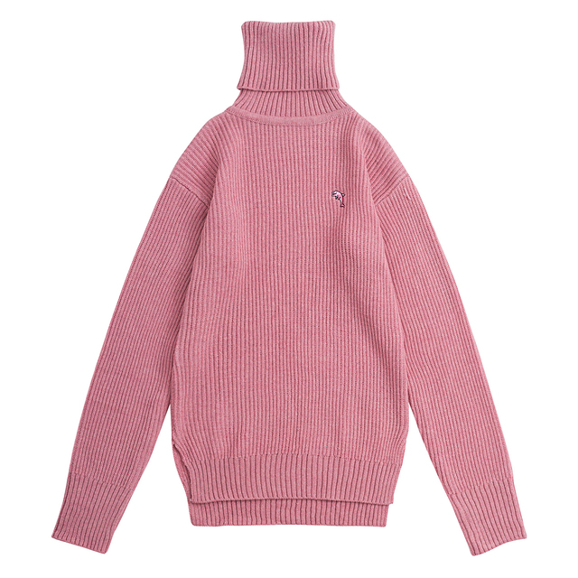 Oversized Winter Turtleneck Sweater Pullover Sweaters Women&men Fashion Dolphin Embroidery High Quality Thick Warm Knitted Tops