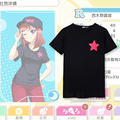 Anime Love Live Cosplay T-shirt Maki Nishikino  T shirt Summer Cotton Short-sleeve Men women Tees tops