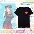 Anime Love Live T-shirt Cosplay Maki Nishikino T camisa de Algodão De Verão Curto-luva Dos Homens as mulheres Tees tops