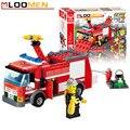 Caminhão De Combate A Incêndio 206 pçs/set J310 Kits de Blocos de Construção Educacionais Tijolos de Construção DIY Iluminai Criança Brinquedos Caçoa o Presente