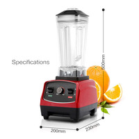 SHIPULE Commercial Grade Timer Blender Mixer Heavy Duty Automatic Fruit Juicer Food Processor Ice Crusher Smoothies 1650W