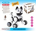 2015 Comando de Voz Inteligente Cão Elétrico Cão Boneco Cantando Passear o Cão Brinquedos Cães Inteligentes Para O Miúdo Presentes Com Caixa Original