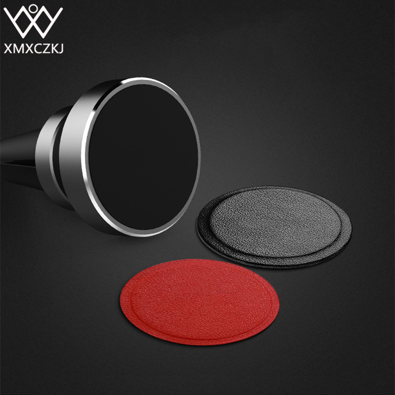 XMXCZKJ <font><b>Car</b></font> Magnetic Holder <font><b>Accessories</b></font> Replacement PU Leather Metal Plate Kit With Adhesive Magnet For Disk <font><b>Mobile</b></font> <font><b>Phone</b></font> Stand image