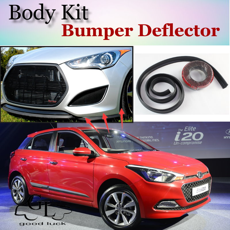 for hyundai i20 i gen elite bumper lip front spoiler deflector for topgear friends car tuning. Black Bedroom Furniture Sets. Home Design Ideas