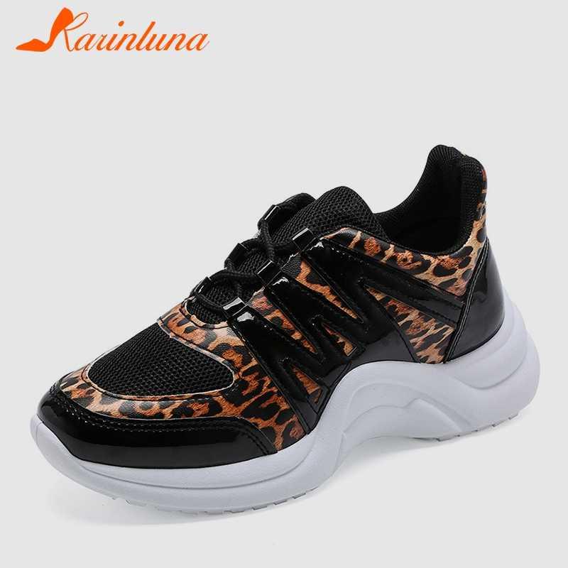 73c0adeed4 KARINLUNA 2019 di Autunno della Molla INS Hot Leopard scarpe Da Tennis  Delle Donne di Grandi Dimensioni 36-42 Signore di Modo Scarpa Da Tennis  Casual ...