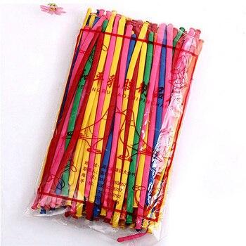 200 pcs Strip Ballon  Mixed Color Magic Long Animal Tying  Balloons Latex
