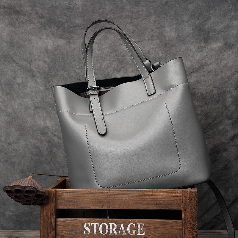 LUDESNOBLE Real Genuine Leather Bag Female Bag Women Leather Handbags Tote Bag Top-handle Bags For Women 2018 Bolsa Feminina ludesnoble woman bags 2016 bag handbag fashion handbags summer genuine leather bag female shoulder bags women bolsa feminina