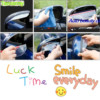 Car styling Back Mirror Rain Cover Stickers for skoda superb bmw e90 peugeot 407 peugeot 3008 vw t5 mitsubishi l200 peugeot 406 image