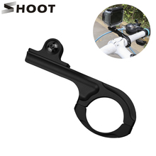 цена на GoPro Long Bike Aluminum Handlebar Mount GoPro Hero 4 3 3+ 2 1 Bicycle Handlebar Seatpost Mount Clamp Clip Holder