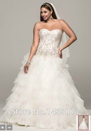 Fast Shipping Sweetheart Handmade Tulle Discount Ball Gown Bridal Gowns Lace Up In Stock Plus Size Embroidery Wedding Dresses