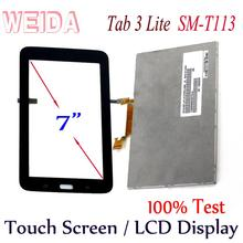 WEIDA LCD Replacment 7 For Samsung GALAXY Tab 3 Lite SM-T113 Wifi Display Touch Screen Separately BA070WS1-400