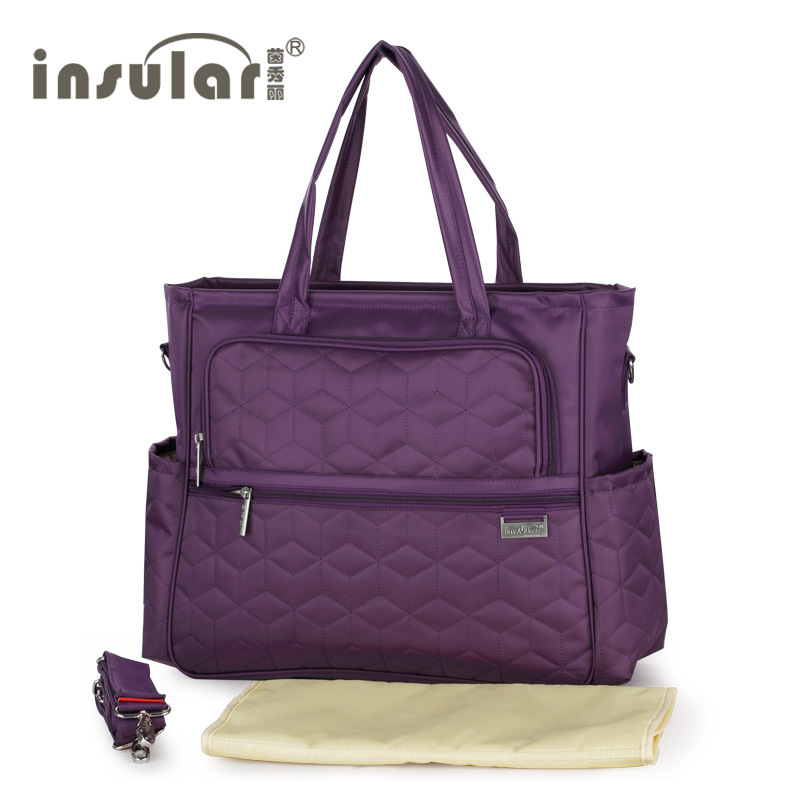 Waterproof Brand Diaper Bag Fashion Baby For Mom Bolsa Maternidade Multifunction Ny Mommy Maternity Purple Pink Beige In Bags From Mother