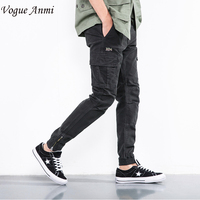 Vogue Anmi New Men Fashion Military Cargo Pants Slim Regualr Straight Fit Cotton Multi Color Black