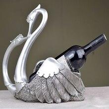 Свадебные украшения Лебедь винные шкафы творческий home украшения смола ремесла винный шкаф украшения аксессуары для кухни