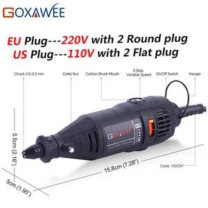 Image 2 - GOXAWEE 110V 220V Utensili Elettrici Elettrico Mini Trapano Con 0.3 3.2mm universale Mandrino E Shiled Rotary Strumenti per Dremel 3000 4000