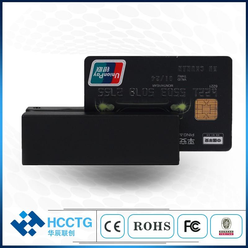 Günstige Preise Magnetische Streifen Karte Encoder MSR Chip Kartenleser HCC-100