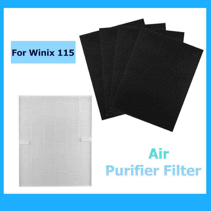 True Hepa Air cleaner Purifier + 4 Carbon Filters For Winix 115 Size 21 Plasma Wave Models 5300 5500 6300 WAC5300 WAC5500 1 fellowes hepa air purifier filter 4 carbon filters fits fellowes ap 300ph air purifier compare hf 300 designed