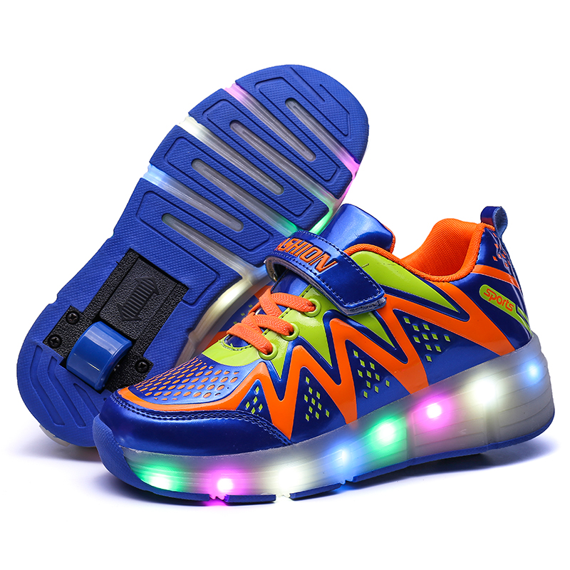 children Roller Sneaker Kid Wheel Shoes Child Fashion Sport Wheel Casual Children Light LED Shoes Boy Girl Glowing Sneaker LED