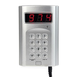 999 Channel Wireless Keyboard Call Button Transmitter for Wireless Restaurant Paging Queuing System F4410D