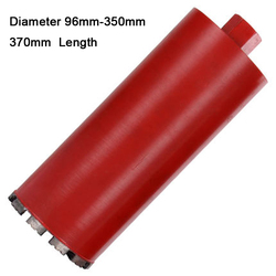 Broca de base de diamante húmeda de 96-350mm de diámetro 370mm de longitud para perforadora de hormigón mampostería