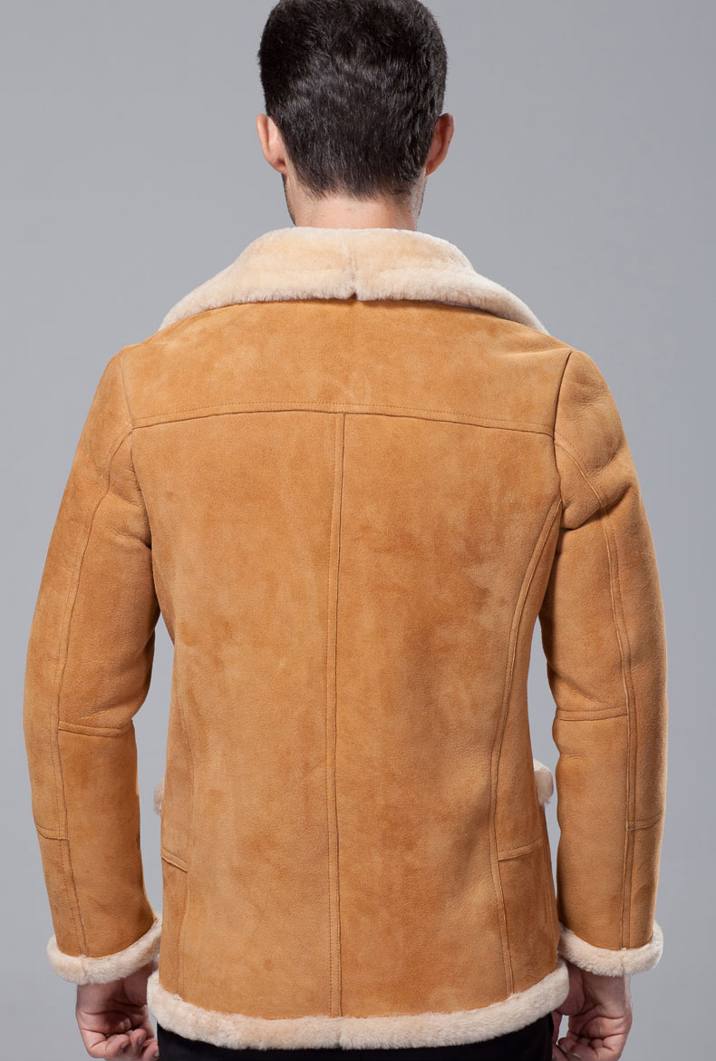 Mens Suede Shearling Coat Coat Clothing