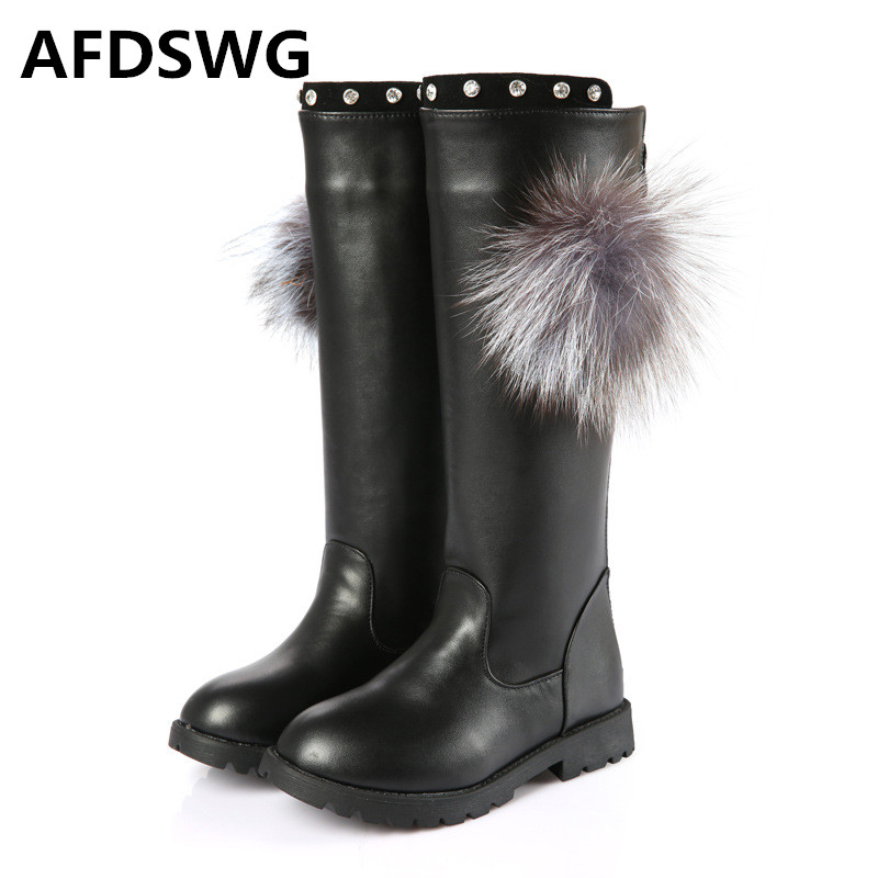 AFDSWG Autumn And Winter Gaotong Thick Plush Thick Warm Low With Soft Black Shoes Snow Boots
