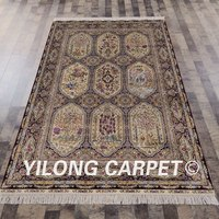 Yilong 5'x8' Traditional Handmade Turkish Rugs Iran Antique Exquisite Silk Carpet (SL148A5x8)