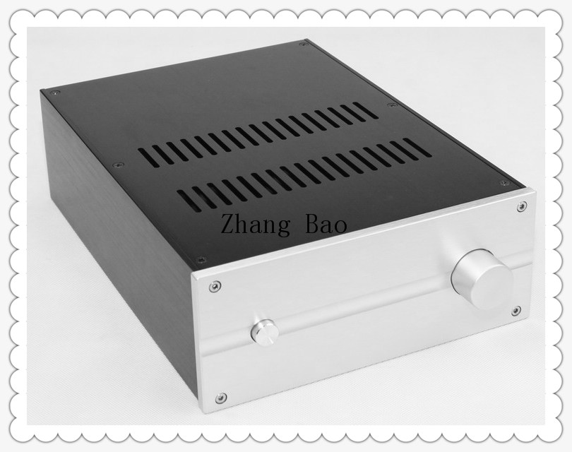 WA81 Amplifier Aluminum Chassis Enclosure Box Case Shell for Audio AMP wa19 aluminum chassis pre amplifier chassis enclosure box 313 425 90mm