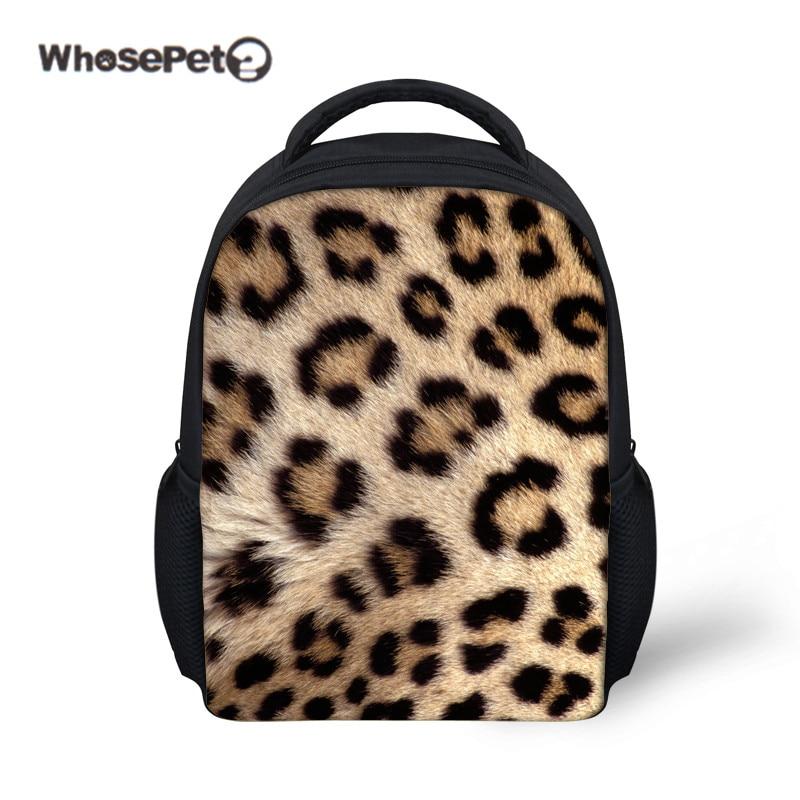 WHOSEPET Leopard Print Fashion Schoolbag for Kid Girls Preschool Satchel Zebra Children Bags Shoulder Bag New Mochilas Infantil