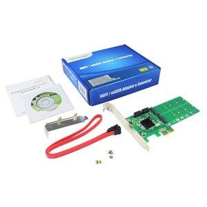 Image 5 - PCIe to 2x M.2 NGFF SSD + 2x SATA3.0 Hardware RAID Card RAID 0 1 10 and HyperDuo