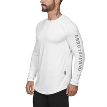 2019 men gym fitness t-shirt male long-sleeved sports cotton shirt t-shirt fitness football sweatshirt  collar sports shirt male male t shirt puma 57499701 sports and entertainment for men sport clothes tmallfs