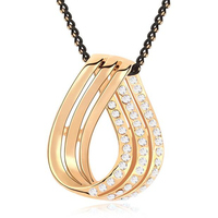 Crystal Knot Pendants Necklaces Boyfriend And Girlfriend Necklace Love Jewelry For Couples From Swarovski Elements 4