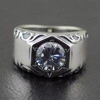 925 стерлингового серебра Тайский серебряные кольца cz