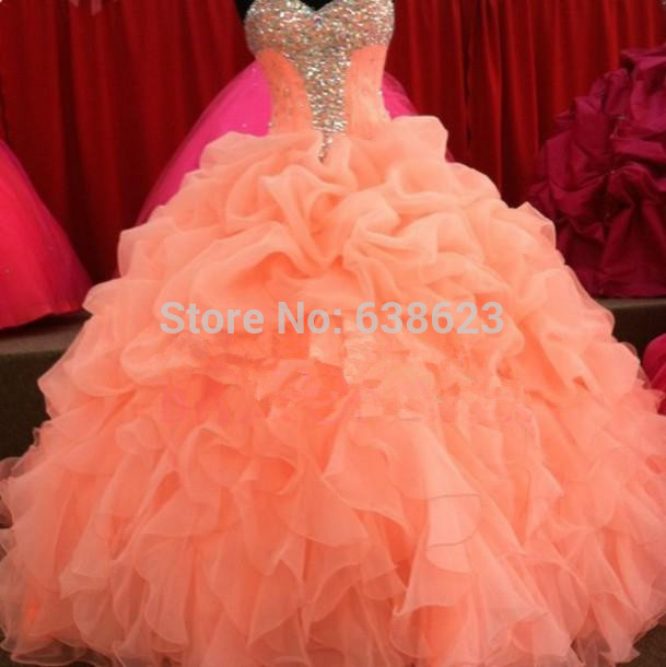 15 dresses coral color