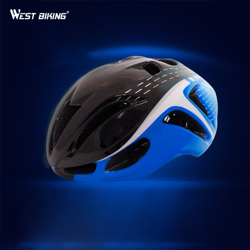WEST BIKING Bicycle Helmet Road Mountain Bike In-molded Aerodynamic Helmet EPS Ultralight Cycling Helmet Capacete Casco Ciclismo west biking bike chain wheel 39 53t bicycle crank 170 175mm fit speed 9 mtb road bike cycling bicycle crank
