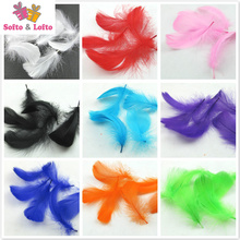 100pcs colorful nature feathers clear balloon filling DIY accessories handwork Birthday wedding Party decorations kid gift