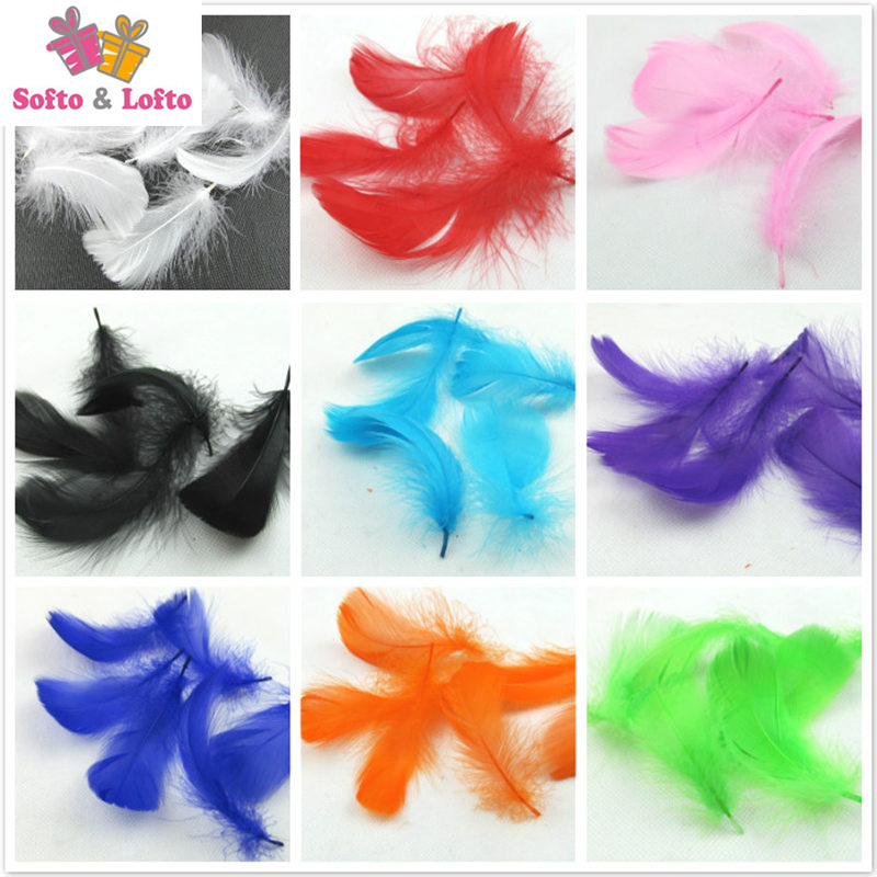 100pcs colorful nature feathers clear balloon filling DIY font b accessories b font handwork Birthday wedding