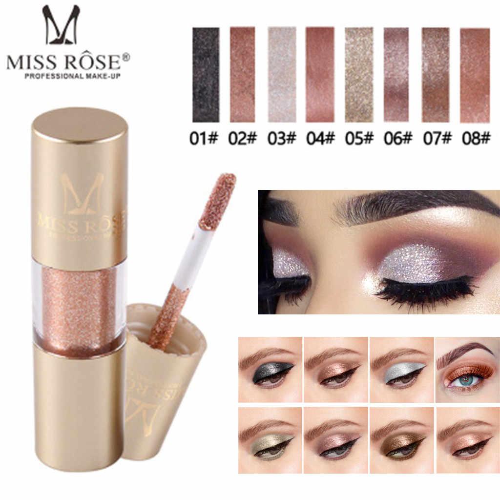 MISS ROSE Nieuwe Make up Oogschaduw Metallic Shiny Glitter Liquid Eyeshadow Waterproof Glitter Vloeibare Oogschaduw Make-Up Cosmetica hot