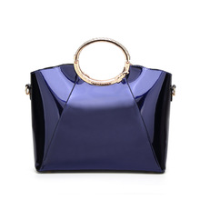 Women Luxury Handbag Glossy Big Tote Solid Color High Quality PU Leather Evening Party Shoulder Bag Large Capacity Messenger Bag