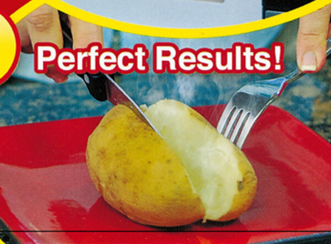 Red Washable Cooker Bag Baked Potato Microwave Cooking Quick Fast Cooks 4 Potatoes At Once Ma In Baking Mats Liners From Home Garden On