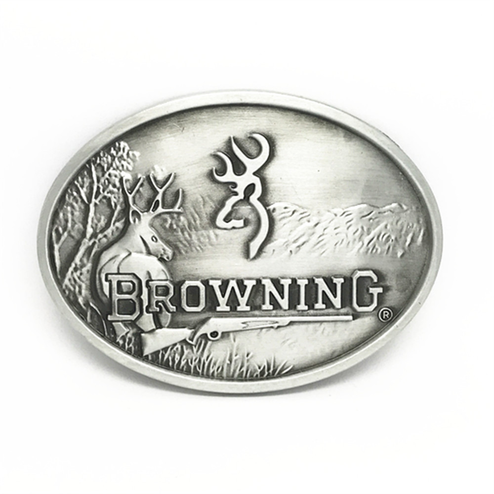 The Cowboys Of The West Belt Buckle BROWNZNG Wild Sheep GuXi Wear-resisting Zinc Alloy Is Suitable For 4.0 Belt
