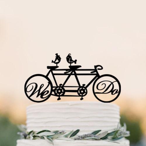 Mr Mrs Wedding Cake Topper Fiets Bruidstaart Taart Mountainbike Fietser