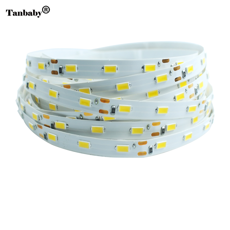 Tanbaby LED Strip light 5630 DC12V 5M 300led Flexible 5730 Bar Light Super Brightness Non-waterproof Indoor Home Decoration