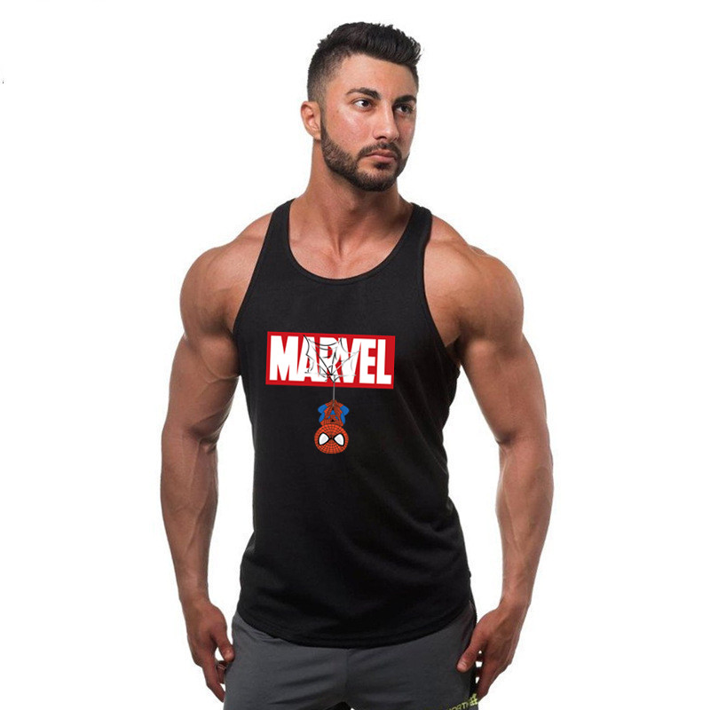 2019 Summer Marvel Spiderman Mens Tank Top Fashion Fitness Clothing Loose Breathable Sleeveless Shirts Bodybuilding Tanktop